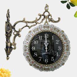 꽃장식 부엉이 주물 양면시계 SSC-713