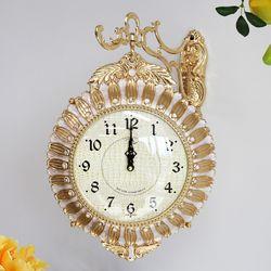 아침햇살 금도금 주물 양면시계 SSC-716G