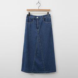 Amora Denim A-Line Long Skirt