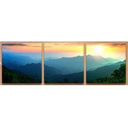 아름다운풍경산등성이일출소형노프레임세트