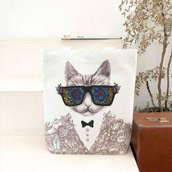 고양이에코백 - 신학기가방 튼튼한 가벼운에코백 대학생가방