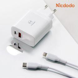 [Mcdodo] 맥도도 30W 2포트 PD 고속충전기+C타입 to 8핀 케이블