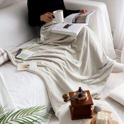멜팅 크리미 극세사 두겹 담요 블랭킷 75x100cm (2color)
