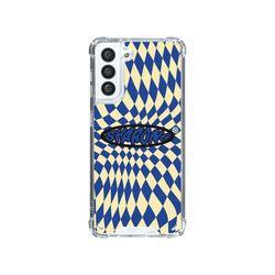 샤론6 갤럭시 핸드폰 투명 케이스 할리퀸블루