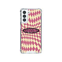 샤론6 갤럭시 핸드폰 투명 케이스 할리퀸핑크