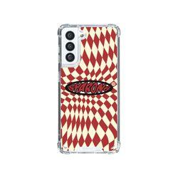 샤론6 갤럭시 핸드폰 투명 케이스 조커레드