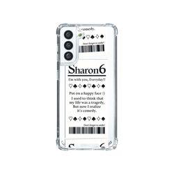 샤론6 갤럭시 핸드폰 투명 케이스 조커티켓
