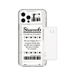샤론6 아이폰 카드 쏙 핸드폰 디자인 폰 케이스 조커티켓