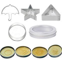 오징어 달고나 만들기 원 삼각형 우산 별 모양 틀 set