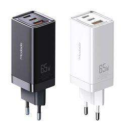 GaN PD3.0 65W 초고속 3포트 멀티충전기 블랙 맥도도