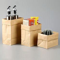 페이퍼 크라프트 종이 냉장고 정리함 봉투 6호