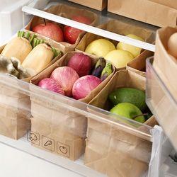 페이퍼 크라프트 종이 냉장고 정리함 봉투 8호