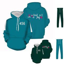 오징어 게임 후드티 체육복 츄리닝 커플 단체 유니폼
