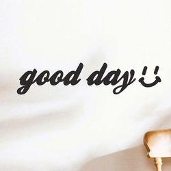 good day smile 감성 레터링 인테리어 스티커 small