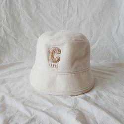 C 로고 벨벳 벙거지 모자 버킷햇 (3color)