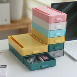 접착식 슬라이드 책상밑 붙이는 틈새서랍 히든 수납함S(6color)