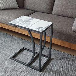 빠띠라인 아라베스카토 천연대리석 사이드 테이블