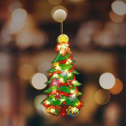 크리스마스 조명 트리 인테리어 유리창 부착형
