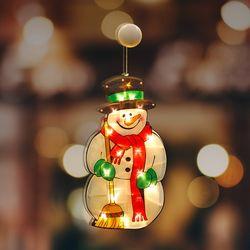크리스마스 조명 눈사람 대형 인테리어 유리창 부착형