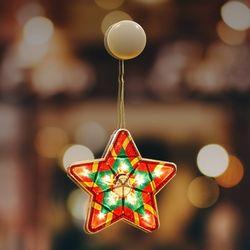 크리스마스 조명 별 매장 인테리어 유리창 부착형