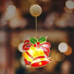 크리스마스 조명 벨 매장 인테리어 유리창 부착형