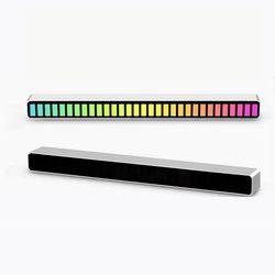 오토크루 차량용 소리반응 이퀄라이저 LED 바