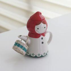 일본 썬아트사의 빨간망토 티포트와 컵세트