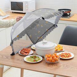 접이식 밥상보 원터치 메쉬 푸드커버 (플라워)