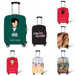 오징어 게임 캐릭터 여행 가방 캐리어 스판 커버 덮개