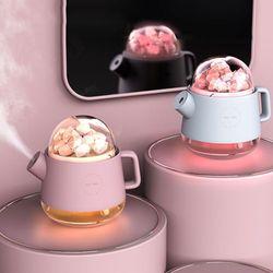 히말라야 핑크 솔트 소금 아로마 공기정화 LED 가습기