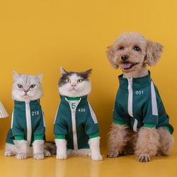 오징어게임 깐부 강아지 고양이 옷 반팔 츄리닝