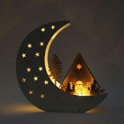 크리스마스 조명 달 하우스