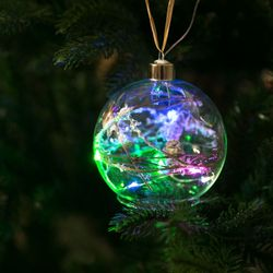 크리스마스 작은 우주 전구 10cm