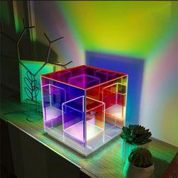 아크릴 큐빅 테이블램프 정사각형 LED 인테리어조명