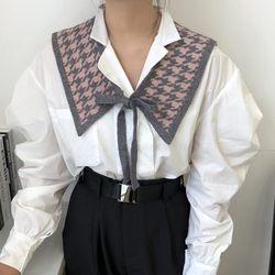 프날 니트 패션 쁘띠 어깨 숄머플러