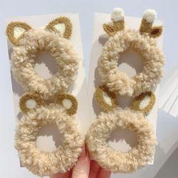 [4개세트] 아뉴 귀여운 유아 여아 동물 곱창 헤어밴드