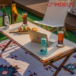 [캠든]테이블매트 캠핑소품 테이블보 가죽 나페 (소)