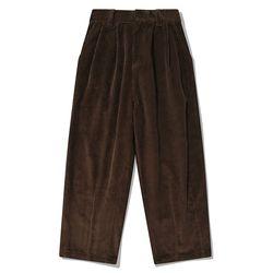 SP TWO TUCK WIDE CORDUROY PANTS-BROWN(NEWJK5GXBB)