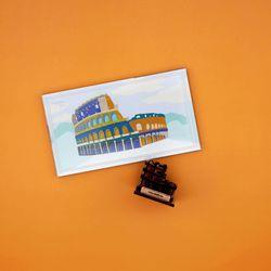 우드썸-콜로세움 랜드마크 원목 입체퍼즐 포스트카드