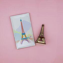 우드썸-에펠탑 랜드마크 원목 입체퍼즐 포스트카드