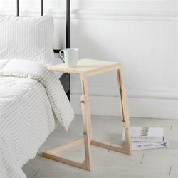 편백나무 원목 높이조절 사이드 티 테이블