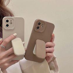 아이폰 13 12 11 pro max 심플 그립톡 거치대 케이스