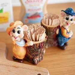 다용도꽂이 생쥐 커플 카페 개업 선물 장식소품