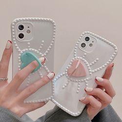 아이폰 x xr xsmax se2 7 8 하트 스마트링 젤리케이스