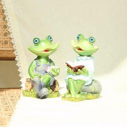 독서하는 개구리 2p  인테리어 장식용품
