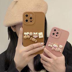 아이폰 13 12 11 pro max x xr 7 8 소녀 곰돌이케이스