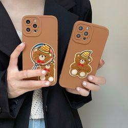 아이폰 13 12 11 pro max 곰돌이패치 입체 젤리케이스
