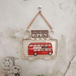 런던버스 오픈 클로즈 사인보드 도어문패