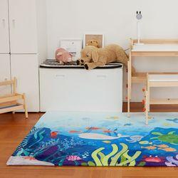 DTP 바다탐험 사각러그 150x200 유아동 놀이 카페트