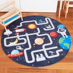 DTP 우주탐험 원형러그 150 유아동 놀이 카페트